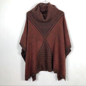 Mossimo Turtleneck Sweater Poncho Boho L/XL